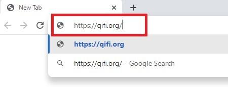 قُم بالدخول إلى موقع qifi