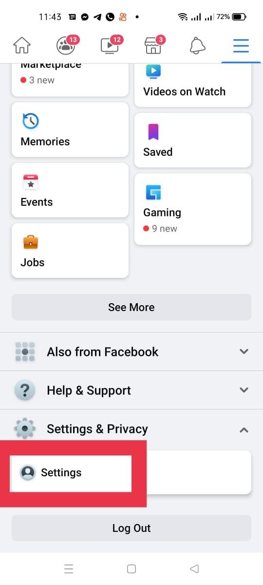قُم بالدخول إلى إعدادات فيس بوك