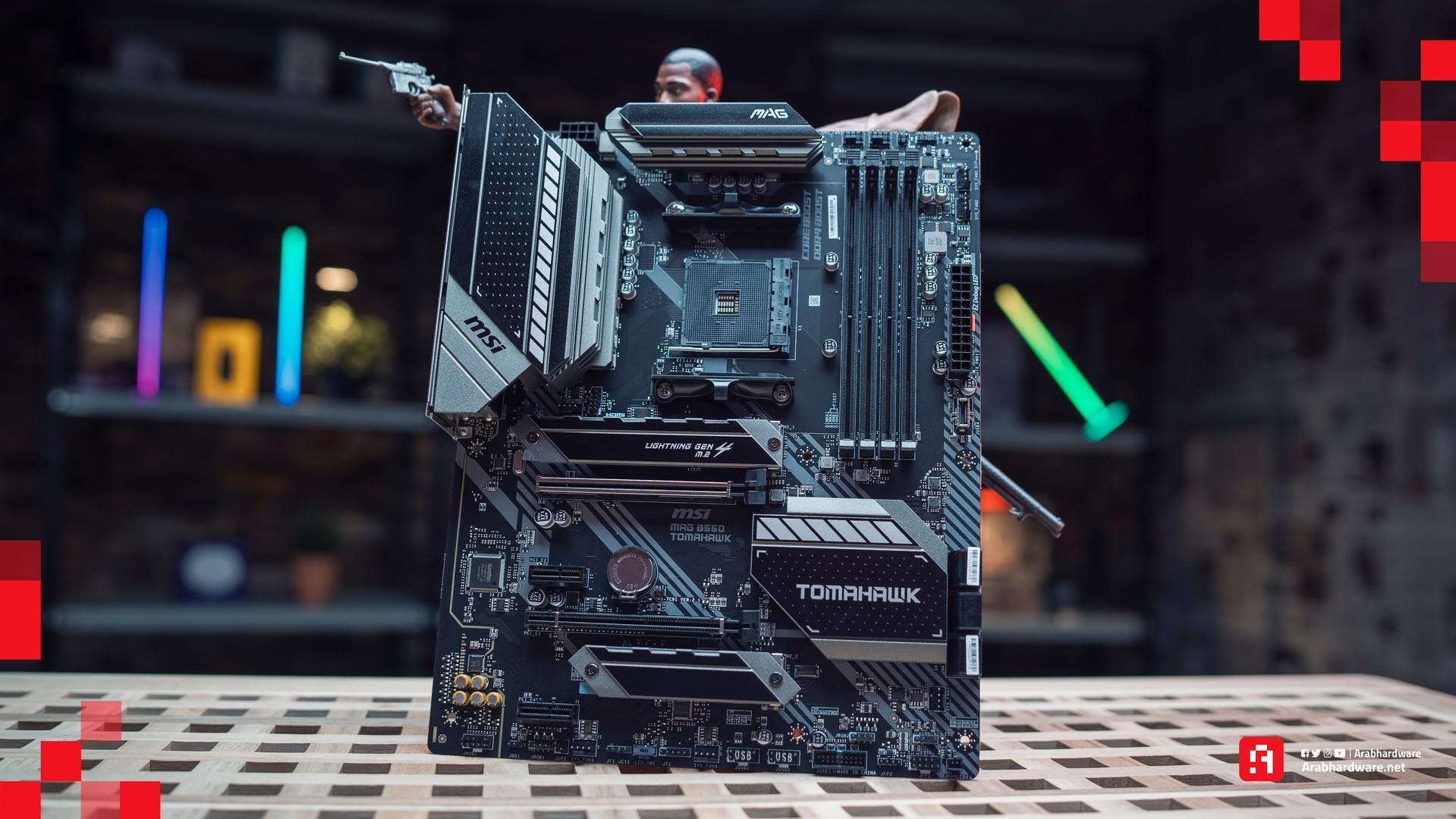 تجميعة الكمبيوتر بلوحة MSI MAG B550 TOMAHAWK
