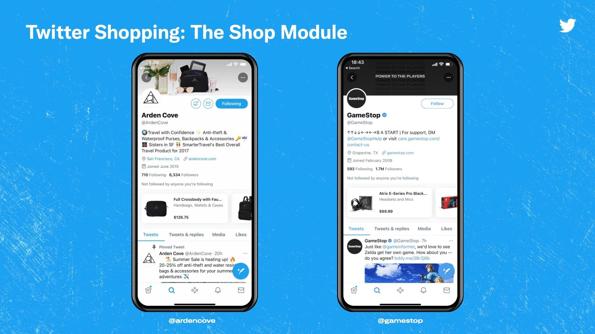 twitter shopping تويتر