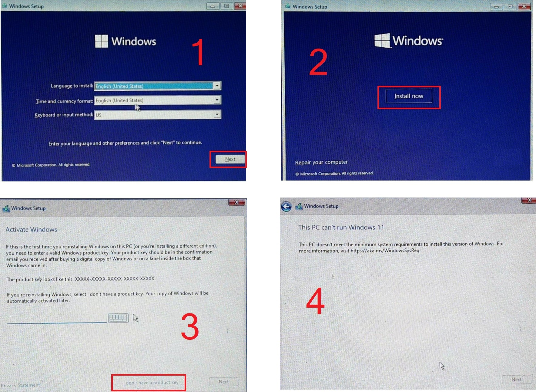install windows 11 for old devices