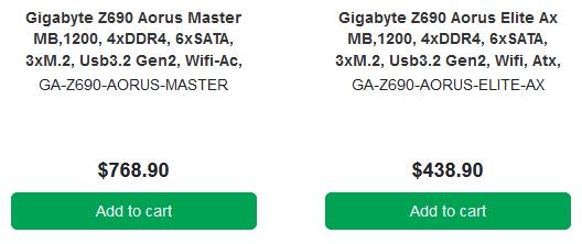 Gigabyte Z690 Aorus Intel Board