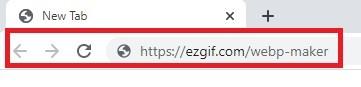 قُم بالدخول إلى موقع ezgif