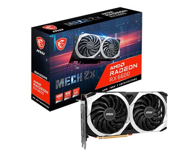 البطاقة الرسومية MSI Radeon RX 6600 MECH 2X