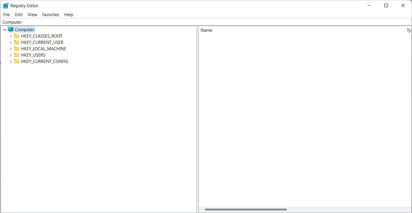 Windows 11 Registry