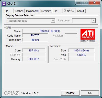 Graphics CPU-Z