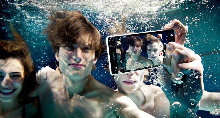 تصوير سوني اكسبيريا تحت الماء