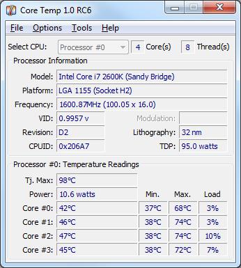 برنامج Core Temp