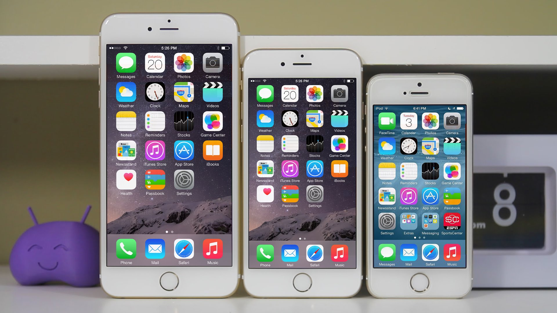 آيفون 5 إس و آيفون 6 و آيفون 6 بلس
