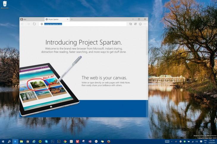 تجربة Windows 10 Project Spartan تحميل متصفح سبارتان