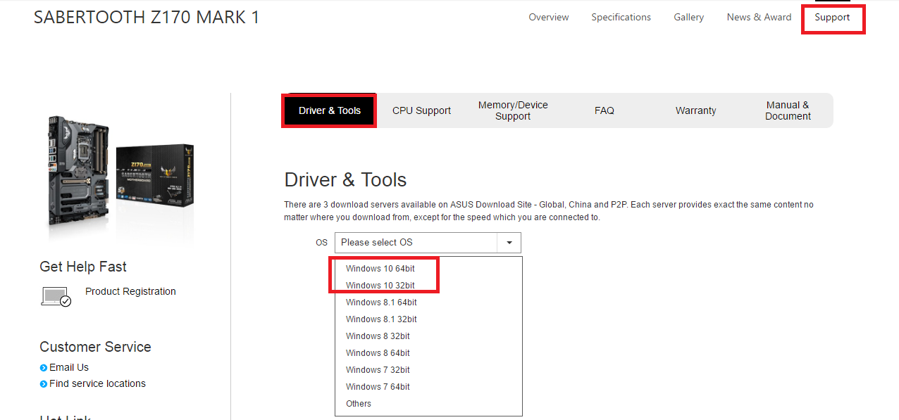 تحديث تعريفات لوحة ASUS لنظام ويندوز 10