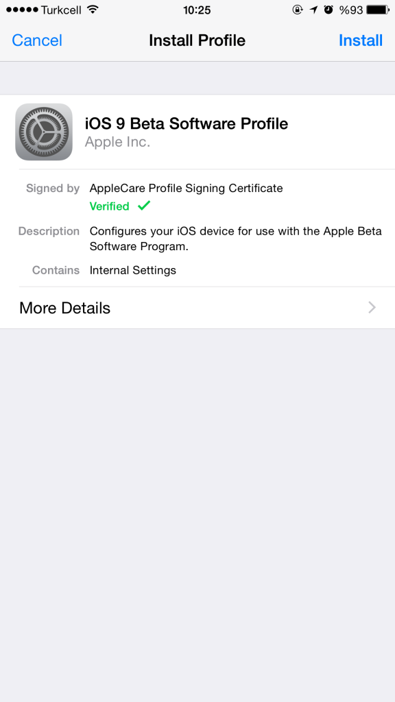 Upgrade to ios 9 beta 5 2