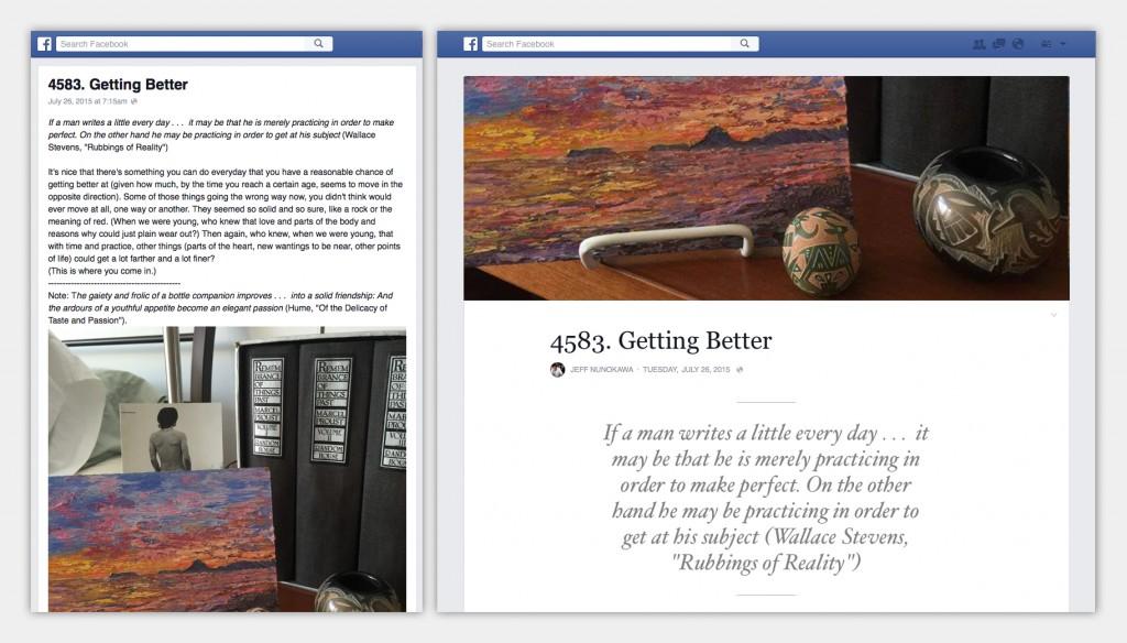 facebook updates notes