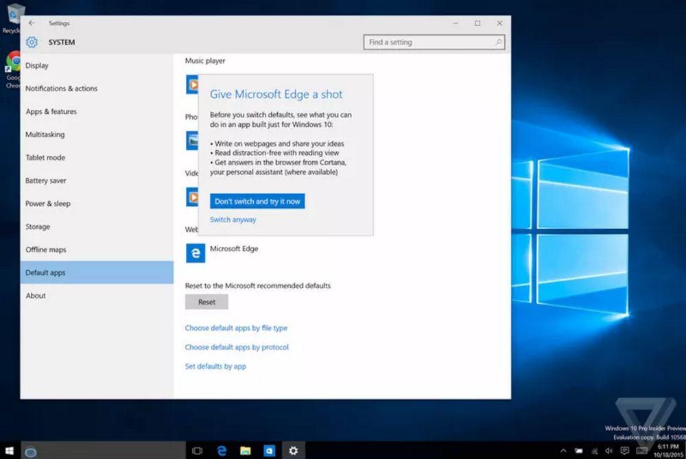 windows 10 give microsoft edge a shot