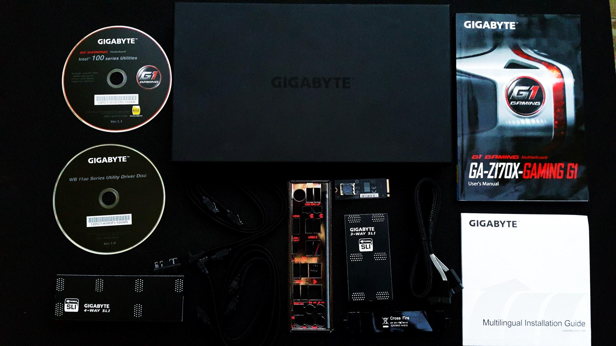 Gigabyte Z170X Gaming G1 Box inside