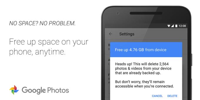 Google Photos تطبيق  سيساعدك على توفير مساحة تخزينية في جهازك