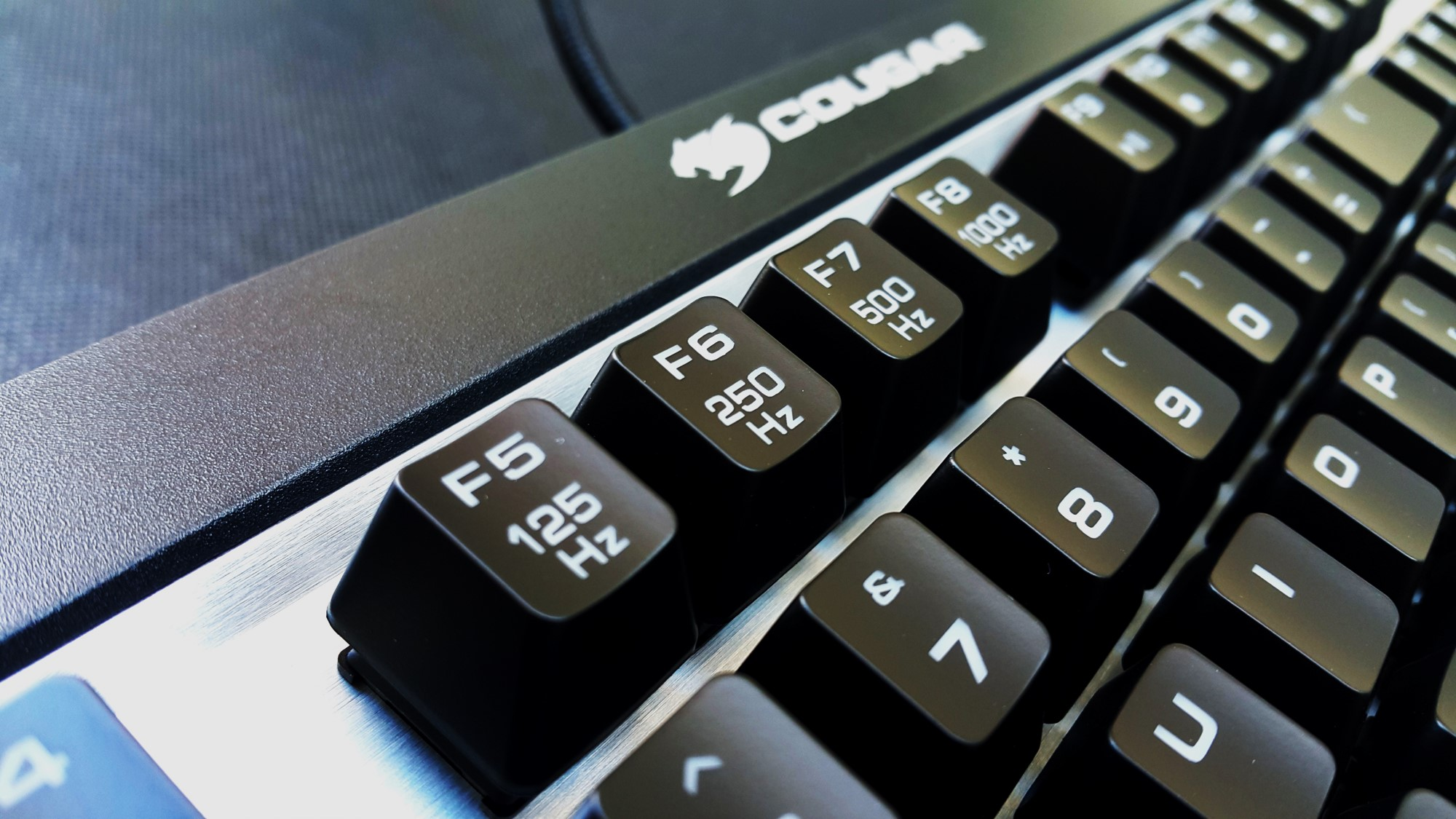 12- Cougar Attack X3 Mechanical Keyboard Polling Rate Buttons