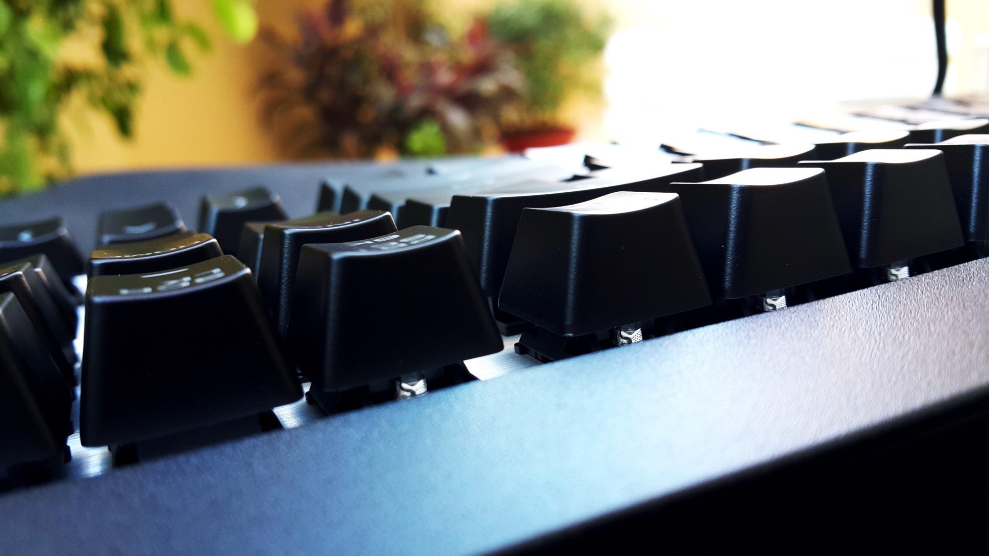 18- Cougar Attack X3 Mechanical Keyboard Backlit Buttons Side