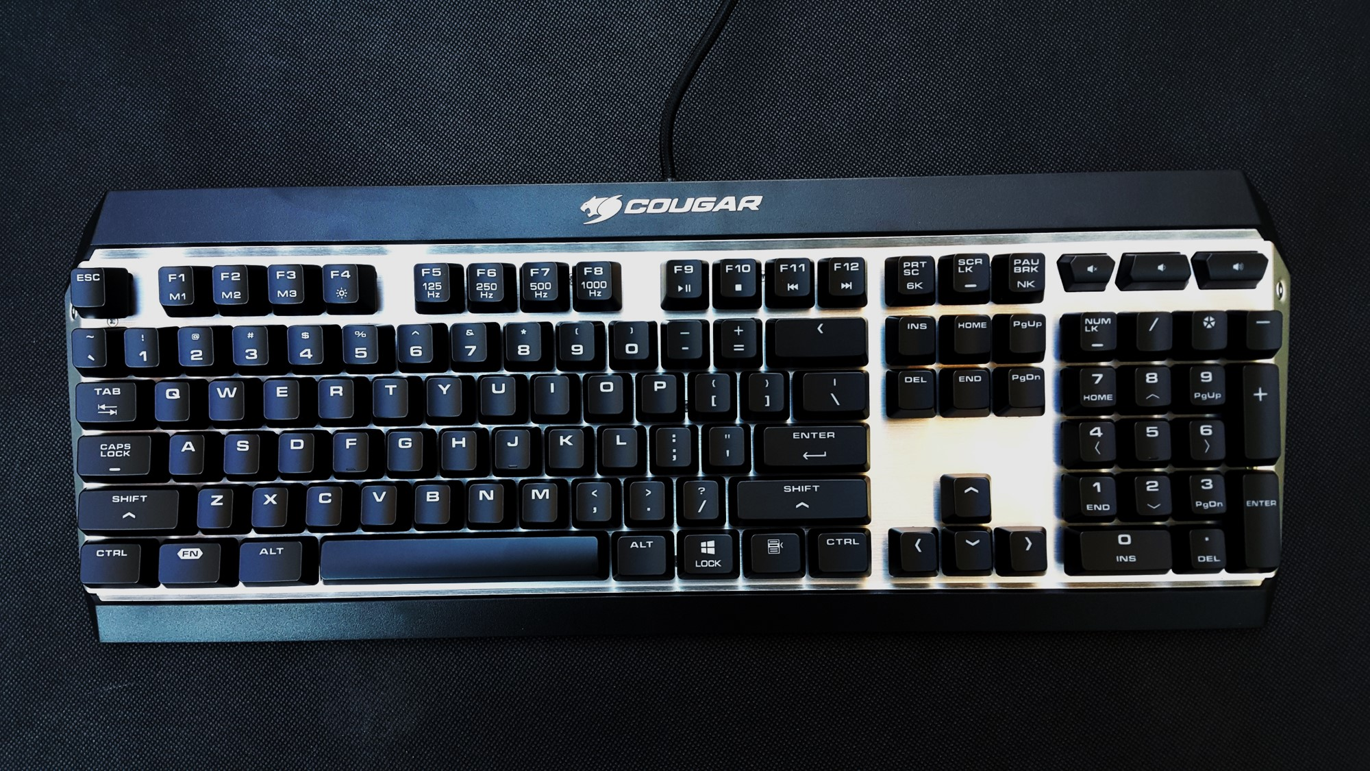 5- Cougar Attack X3 Mechanical Keyboard front