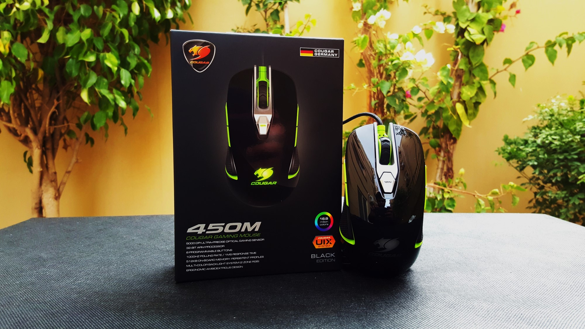 0-Couger 450M Black Edition Gaming Mouse Cover