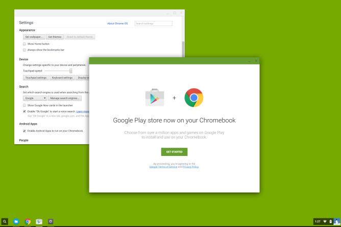 Chrome OS gets google play