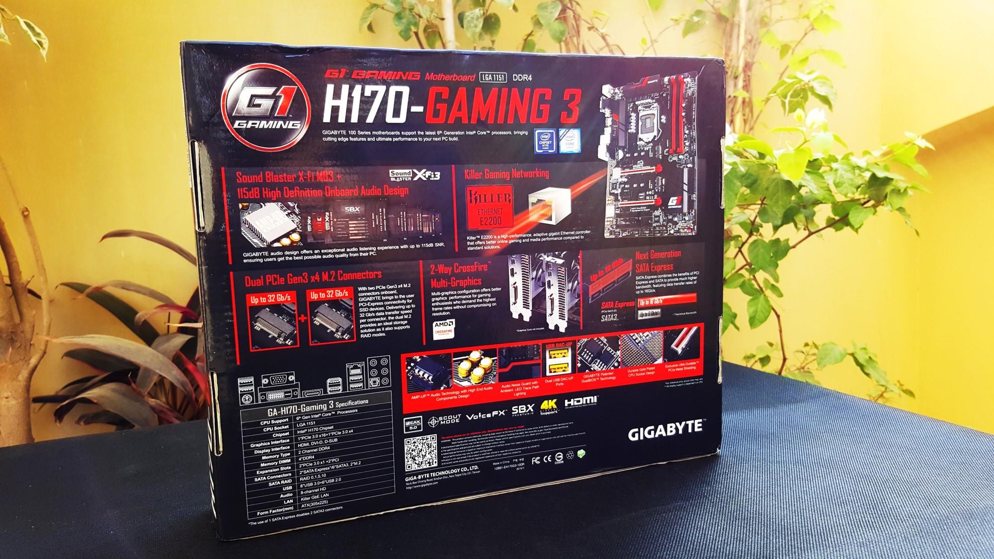 5-Gigabyte H170-Gaming 3 Box Back