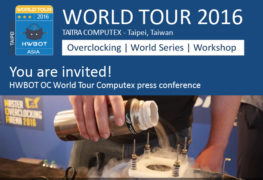 HWBOT تعلن عن حضورها لمعرض Computex 2016