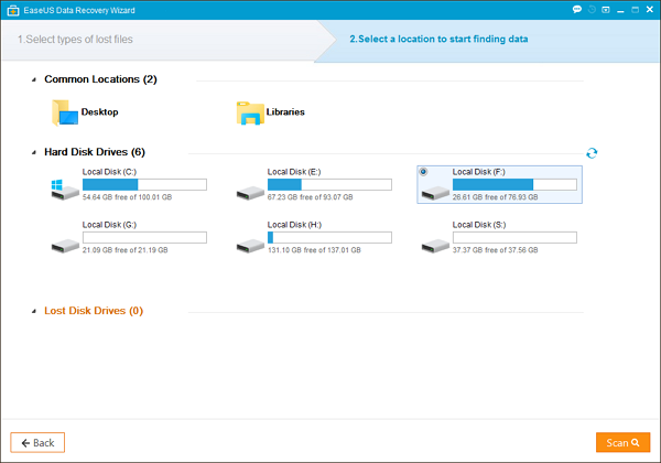 EaseUS data recovery from SD Cards