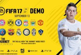 ديمو FIFA 17 سيطلق بمنتصف سبتمبر ويحتوى على 12 نادى وملعبين