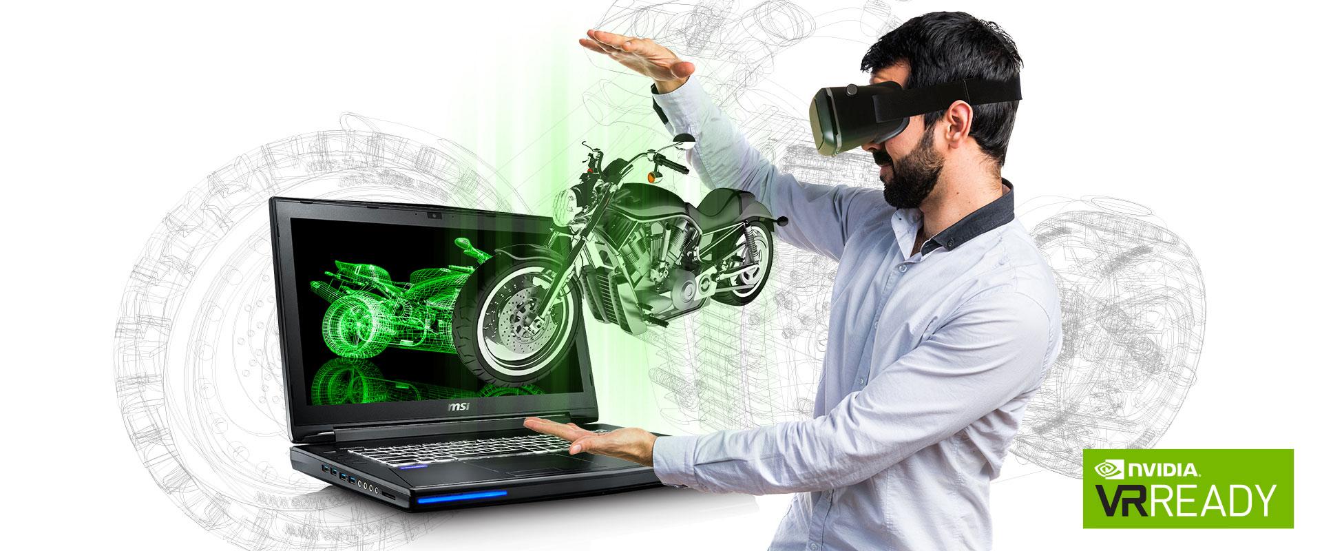الواقع الافتراضي مع أجهزة MSI Workstation المحمولة