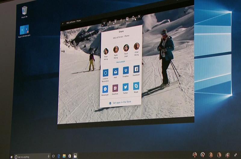 Windows 10 Share UI