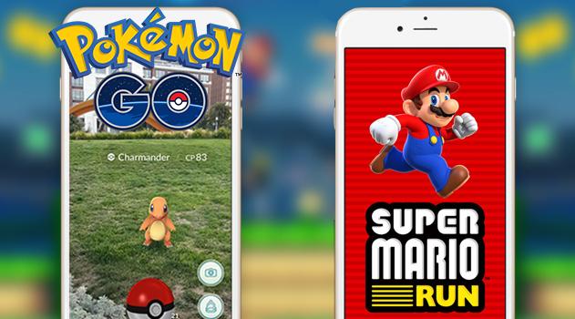 لعبة Super Mario Run vs لعبة Pokemon Go