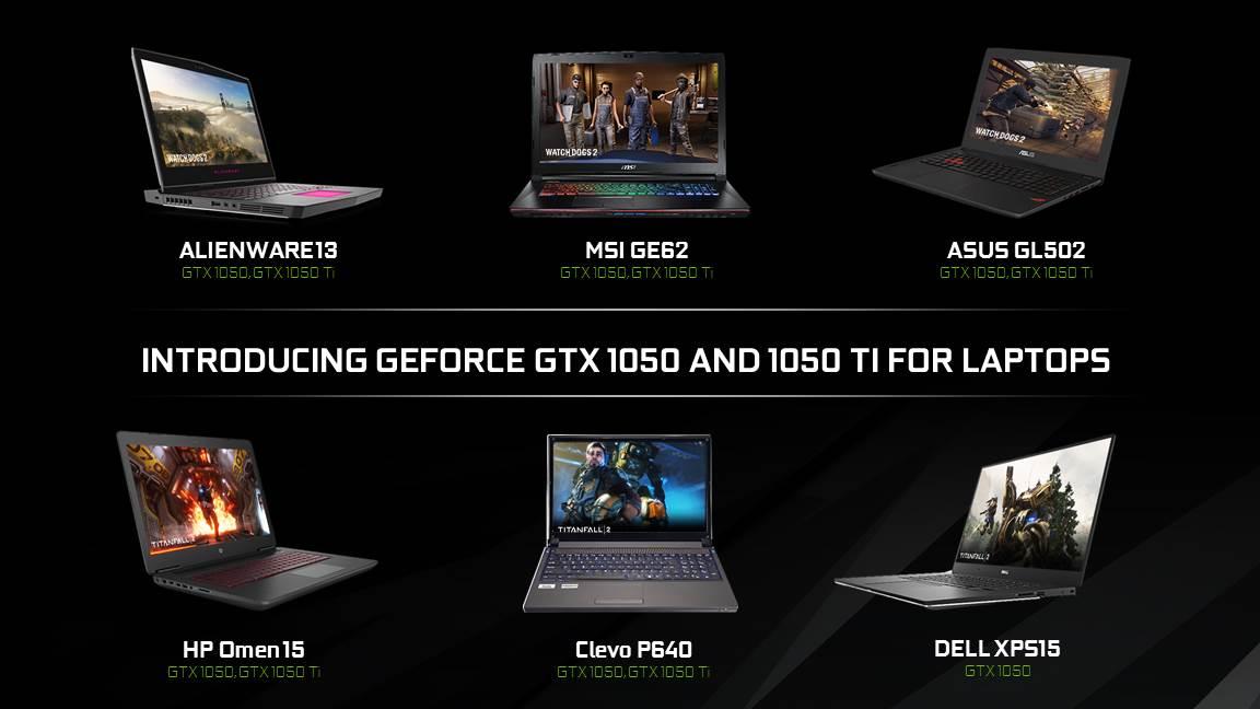 رسمياً انفيديا تعلن عن بطاقات GTX 1050Ti/1050 للأجهزة المحمولة