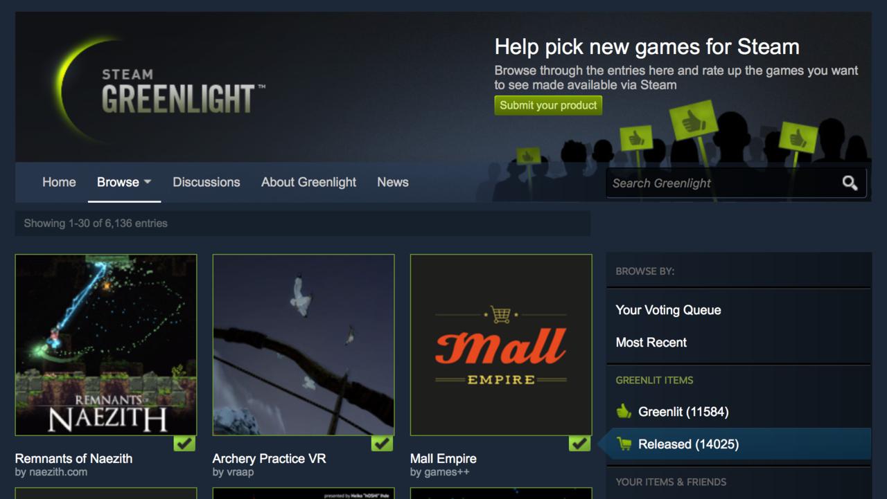 Valve eliminates Steam Greenlight