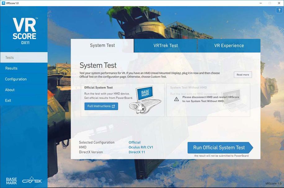 برنامج VRScore الجديد من Basemark
