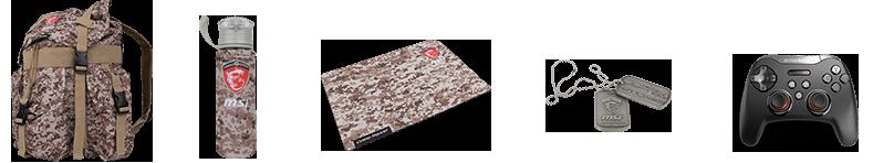 تعرف على سلسلة منتجات Camo Squad Limited Edition العسكرية من MSI