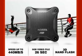 إطلاق قرص SD600 SSD الخارجي برقاقات 3D TLC NAND من ADATA