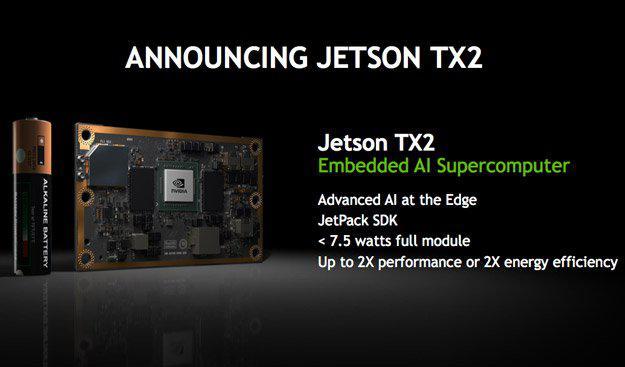 انفيديا تعلن عن منصة Jetson TX2 لحوسبة الذكاء الاصطناعي