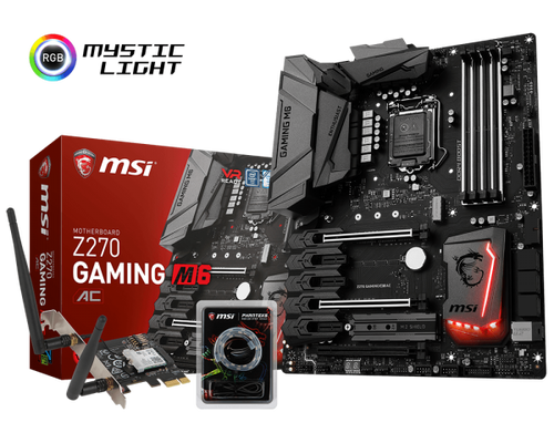 الإعلان عن لوحة MSI Z270 Gaming M6 AC الجديدة