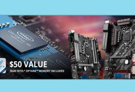 3 لوحات من MSI عند شرائها ستتضمن الذاكرة المسرعة Optane بحجم 16GB