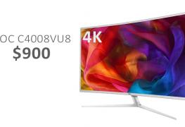 إطلاق الشاشة المنحنية AOC C4008VU8 بحجم 40 بوصة وبدقة 4K
