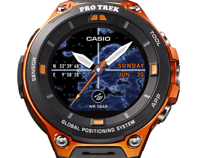 86d55c135 اصحبت الساعة الان متوفرة للشراء من المواقع الكبرى مثل Amazon وغيرها من مواقع  البيع، ساعة Pro Trek Smart WSD-F20 هي تعتبر نجاح للجيل الأول منها WSD-F10،  ...
