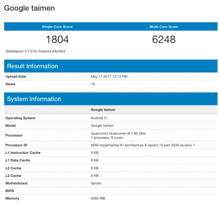 Google Taimen Geekbench