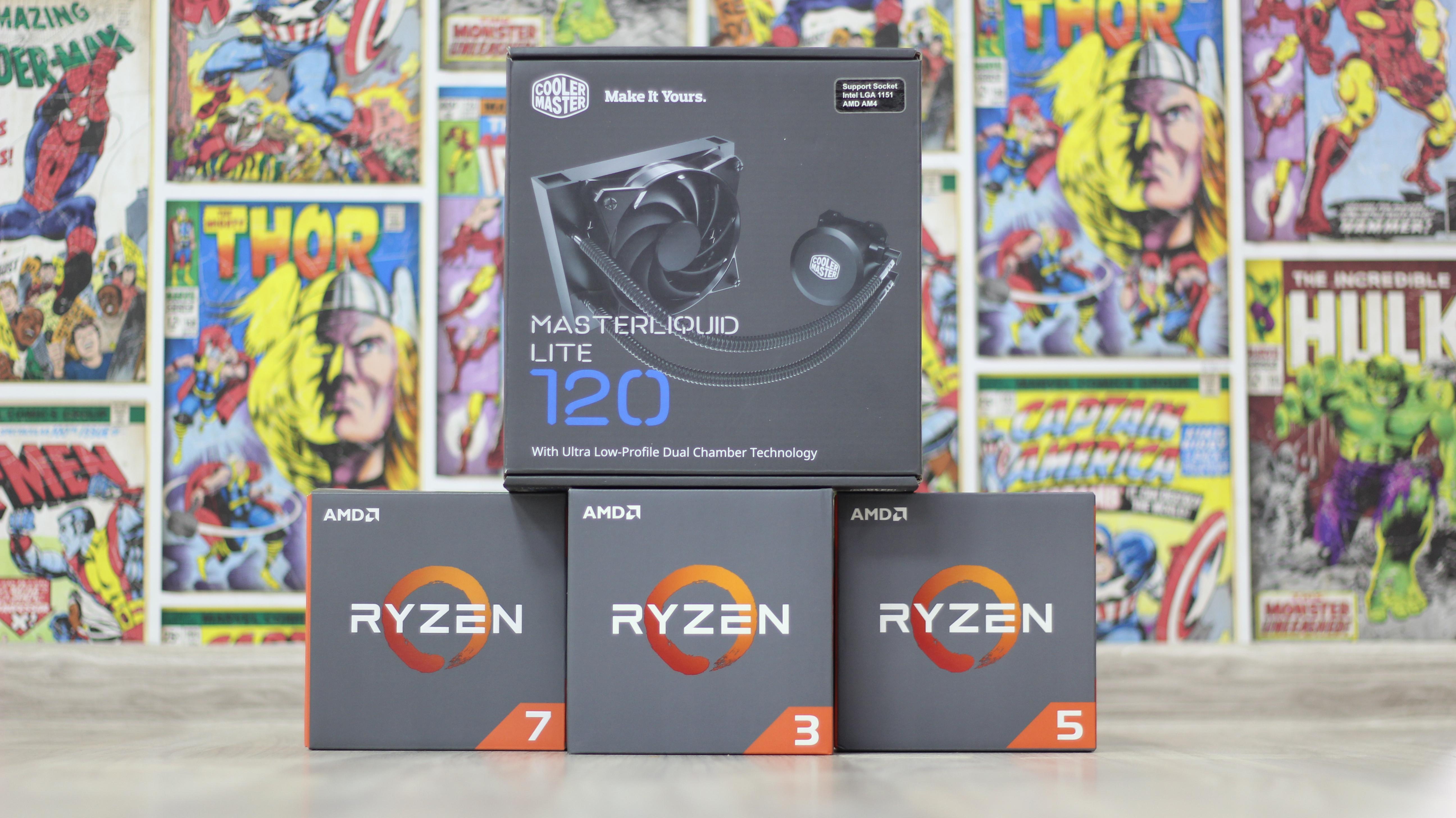 Cooler Master MasterAir Pro 4 MasterLiquid Lite 120 AMD RYZEN 3/5/7