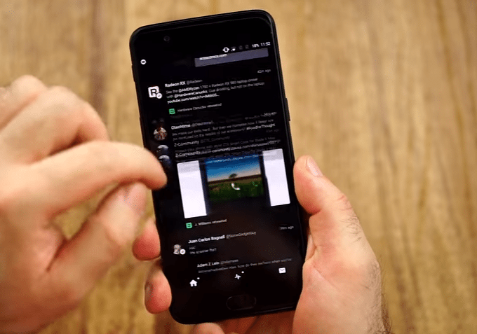 مشكلة Jelly Effect هاتف OnePlus 5
