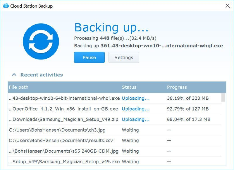 Synology وبالأخص وحدة Diskstation DS1517+ مع Cloud Station Backup
