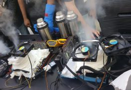 كسر سرعة معالج AMD Threadripper 1950X لتردد 5.2GHz بالنيتروجين السائل