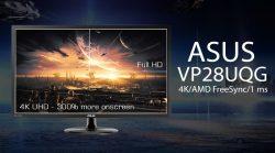 لعشاق دقة 4K تعرف على شاشة ASUS VP28UQG الجديدة