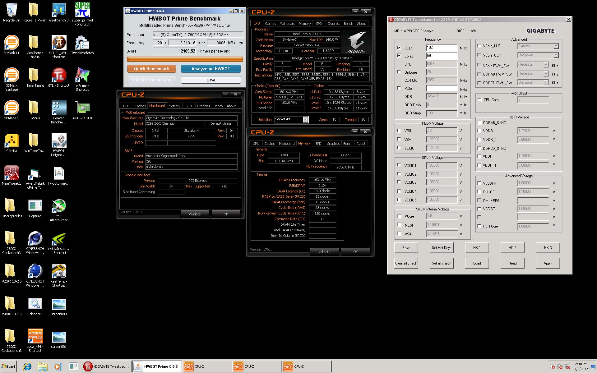 معالج إنتل Core i9 7900X يصل لتردد 6.01GHz ويحطم الرقم العالمي لـ HWBOT
