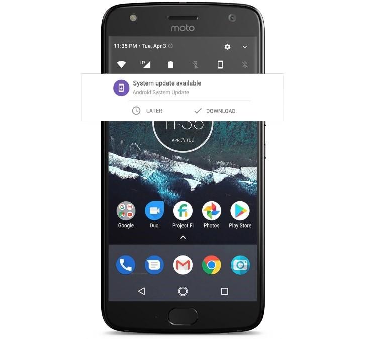 من هاتف Moto X4